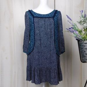 Holding Horses Boho Blue Paix Tunic Dress